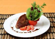 Picanha com-salada Royaltyfria Foton