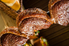 Picanha, rundvlees traditionele Braziliaanse barbecue Royalty-vrije Stock Foto