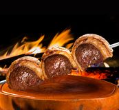 Picanha, traditional Brazilian barbecue. Royalty Free Stock Photography