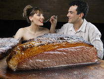 Picanha, traditional Brazilian barbecue. Royalty Free Stock Images