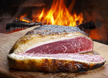 Picanha, traditional Brazilian barbecue. Royalty Free Stock Photo