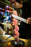 Picanha, traditional Brazilian barbecue. Royalty Free Stock Image
