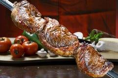 Picanha, traditionele Braziliaanse barbecue stock foto
