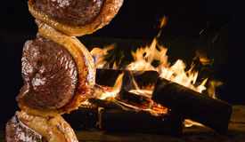 Picanha, traditioneller brasilianischer Grill stockfoto