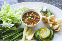 ` Picante s Roe Sauce del cangrejo Imagenes de archivo