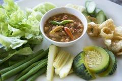 ` Picante s Roe Sauce do caranguejo Imagens de Stock