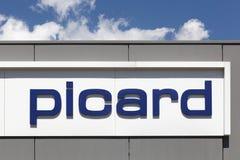 Picard logo na ścianie obraz stock