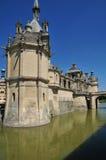 Picardie, το γραφικό κάστρο Chantilly Oise Στοκ εικόνα με δικαίωμα ελεύθερης χρήσης