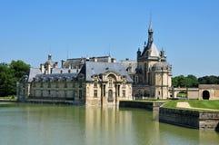 Picardie, το γραφικό κάστρο Chantilly Oise Στοκ φωτογραφία με δικαίωμα ελεύθερης χρήσης