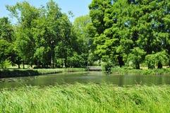 Picardie, το γραφικό κάστρο Chantilly Oise στοκ εικόνες με δικαίωμα ελεύθερης χρήσης