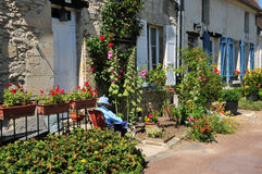 Picardie, το γραφικό χωριό Αγίου Jean aux Bois σε Ois Στοκ Φωτογραφίες