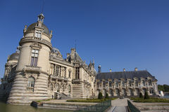尚蒂伊城堡, Picardie,法国 库存图片