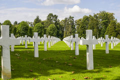 Picardie (France) - American War Cemetery Royalty Free Stock Photos