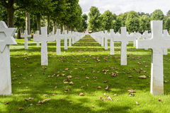 Picardie (France) - American War Cemetery Stock Photo