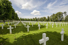 Picardie (France) - American War Cemetery Royalty Free Stock Image