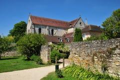 Picardie, het schilderachtige dorp van Heilige Jean aux Bois in Ois Stock Afbeeldingen