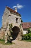 Picardie, het schilderachtige dorp van Heilige Jean aux Bois in Ois Stock Foto
