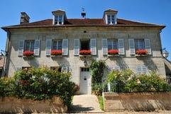 Picardie, het schilderachtige dorp van Heilige Jean aux Bois in Ois Stock Fotografie