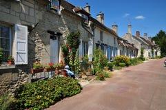 Picardie, het schilderachtige dorp van Heilige Jean aux Bois in Ois Royalty-vrije Stock Foto