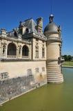 Picardie, het schilderachtige kasteel van Chantilly in Oise Royalty-vrije Stock Fotografie