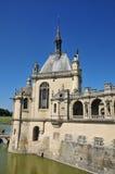 Picardie, het schilderachtige kasteel van Chantilly in Oise Stock Fotografie