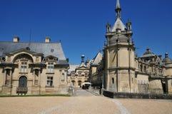 Picardie, het schilderachtige kasteel van Chantilly in Oise Royalty-vrije Stock Afbeelding