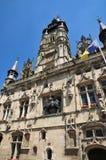Picardie, het schilderachtige stadhuis van Compiegne in Oise Stock Foto's