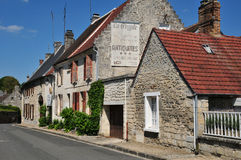 Picardie, le village historique de Morienval Photo stock