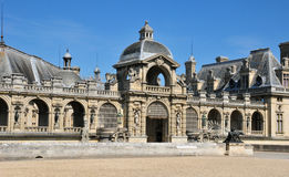 Picardie, the picturesque castle of Chantilly in Oise Stock Photo