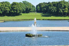 Picardie, the picturesque castle of Chantilly in Oise Stock Images