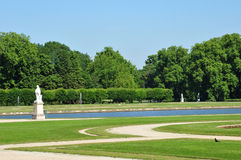 Picardie, the picturesque castle of Chantilly in Oise Stock Photography