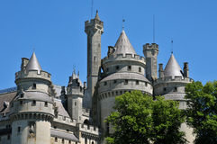 Picardie, the picturesque castle of Pierrefonds in Oise Royalty Free Stock Photo