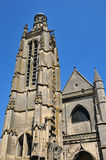 Picardie, the picturesque church of  Compiegne in Oise Stock Photo