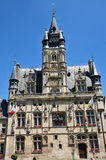 Picardie, the picturesque city hall of  Compiegne in Oise Royalty Free Stock Images