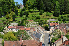 Picardie, the picturesque city of Pierrefonds in Oise Stock Photo