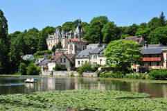 Picardie, the picturesque city of Pierrefonds in Oise Royalty Free Stock Photography