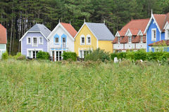Picardie, the picturesque village of Fort Mahon Plage in Somme Royalty Free Stock Image