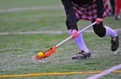 Picareta da esfera de lacrosse das meninas Fotos de Stock Royalty Free