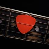 Picareta da guitarra imagem de stock