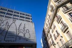 Picasso art in Gothic quarter. Barcelona, Spain - February 16, 2012:  Picasso art in Gothic quarter Stock Image