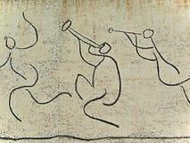 Picasso: Dels Nens do EL Fris (friso das crianças). imagem de stock