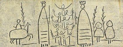 Picasso: EL fris dels Gegants (Giants-Fries) lizenzfreies stockbild