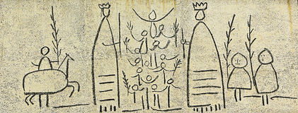 Picasso: El fris dels Gegants (Giants Frieze) Royalty Free Stock Image