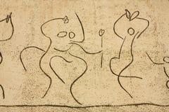Picasso. Het Fries van kinderen. de dansers detailleren Stock Foto's
