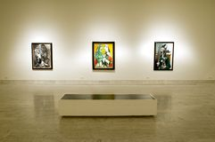 Picasso Museum of Barcelona. Indoor of Museum spanish painter Pablo Picasso in Barcelona Royalty Free Stock Image