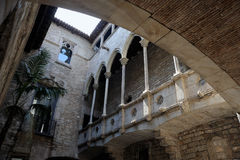The Picasso Museum in Barcelona. The Museu Picasso's cloister in BArcelona - Spain Stock Photos
