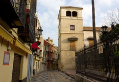 Picasso Museum Tower in Malaga. Picasso Museum tower in Calle San Agustin in Malaga, Spain Royalty Free Stock Image