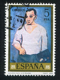 Picasso. SPAIN - CIRCA 1978: stamp printed by Spain, shows self-portrait of Picasso, circa 1978 stock photo