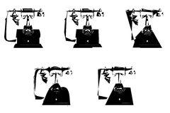 Picasso-Telefone Lizenzfreie Stockbilder