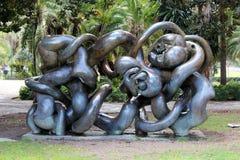 Picasso trädgård i Malaga, Spanien Royaltyfri Fotografi
